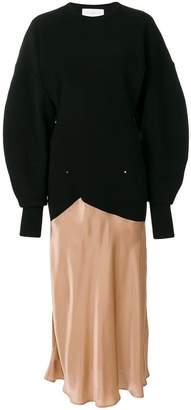 Esteban Cortazar contrast material longsleeved dress