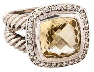 David Yurman Citrine & Diamond Albion Ring