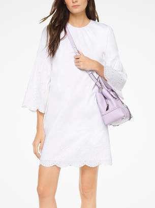 MICHAEL Michael Kors Eyelet Cotton-Poplin Dress