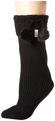 UGG Pom Pom Tall Rain Boot Socks Women's Knee High Socks Shoes