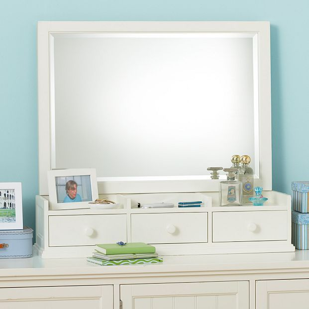 Beadboard Smart Dresser Topper with Mirror