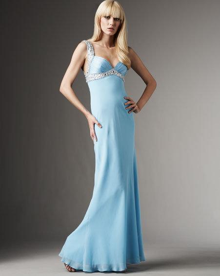 Aidan Mattox Beaded Silk Gown