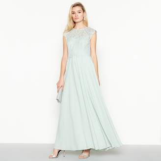 Debut - Pale Green  Olivia  Floral Lace Maxi Dress 5c1f7a558