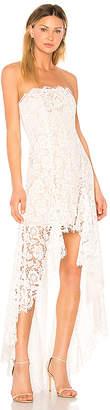 Aijek Star-crossed Scallop Gown