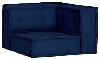 Pottery Barn Teen Cushy Lounge Corner Chair, Navy Faux-Suede