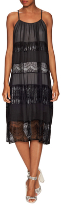 Alice + Olivia Dejas Pleated Trapeze Dress