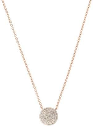 Monica Vinader Rose Gold Vermeil Fiji Diamond Button Necklace