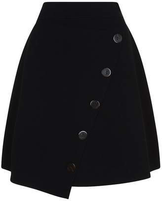 Sandro A-Line Button Skirt