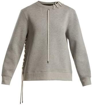 Craig Green Crew-neck lace-up jersey sweatshirt