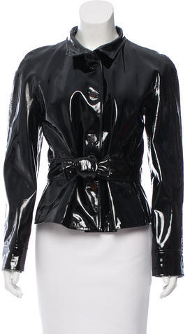 ValentinoValentino Patent Leather Button-Up Jacket