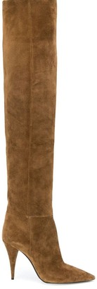 Saint Laurent Kiki 100 over-the-knee boots