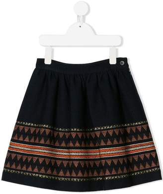 Il Gufo embroidered pattern skirt