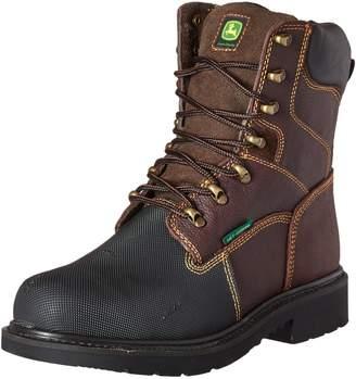 """John Deere Men's JD8601 8"""" Waterproof MET Gaurd Steel Toe Punture Guard Boot"""