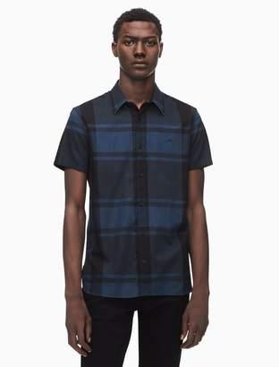 Calvin Klein regular fit heather check short sleeve shirt