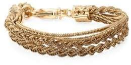 Emanuele Bicocchi 24K Gold-Plated Sterling Silver Braided Tiered Bracelet