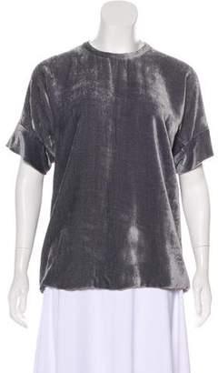 Marc Jacobs Velvet Short Sleeve Top