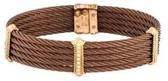Charriol Diamond Three Station Bracelet