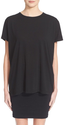 Helmut Lang Open Back Featherweight Jersey Tee $160 thestylecure.com