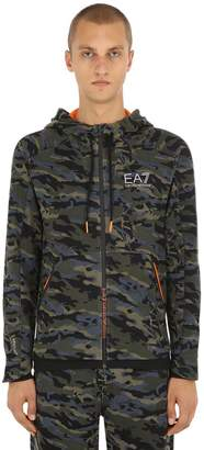 Emporio Armani Ea7 Ventus 7 Cotton Blend Zip-up Sweatshirt