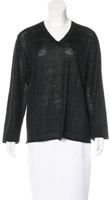 John Varvatos Silk Blend V-Neck Sweater $65 thestylecure.com