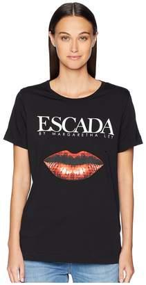 Escada Sport Elabio Short Sleeve Logo Lips Tee Women's T Shirt