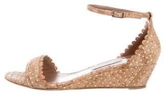 Tabitha Simmons Cork Wedge Sandals