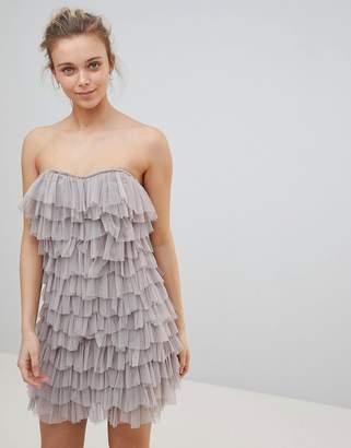 Glamorous Tulle Frill Bandeau Dress