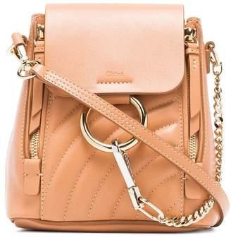 Chloé blush pink Faye leather backpack