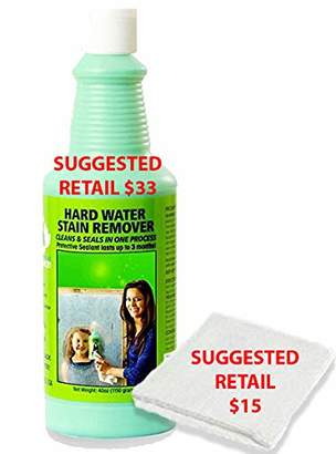 URBAN RESEARCH Bio Clean: Eco Friendly Hard Water Stain Remover (20oz Large)- Our Professional Cleaner Removes Tuff Water Stains From Shower