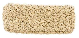 Carrie Forbes Woven Metallic Clutch