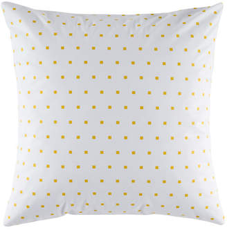 Kas Squares Mustard Euro Pillowcase