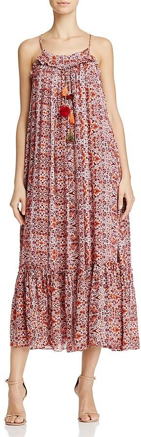 MISA Los Angeles Thale Pom-Pom Maxi Dress