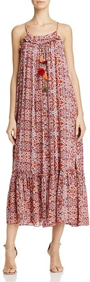 MISA Los Angeles Thale Pom-Pom Maxi Dress $304 thestylecure.com