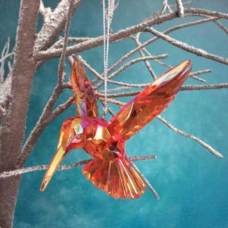 The Christmas Home Red Hummingbird Christmas Decoration