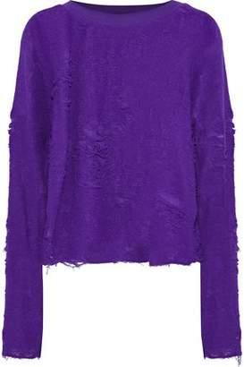 IRO Cenix Distressed Cotton-Blend Sweater
