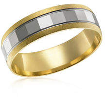 Tag Heuer FINE JEWELLERY Two-Tone 10K Gold Wedding Band