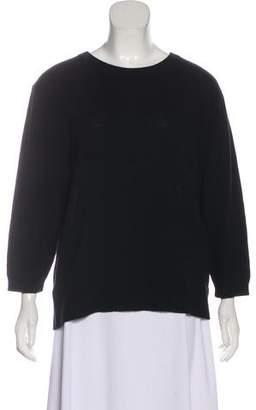 Organic by John Patrick Wool-Cashmere Long Sleeve Top
