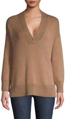 Lafayette 148 New York Deep V-Neck Cashmere Sweater