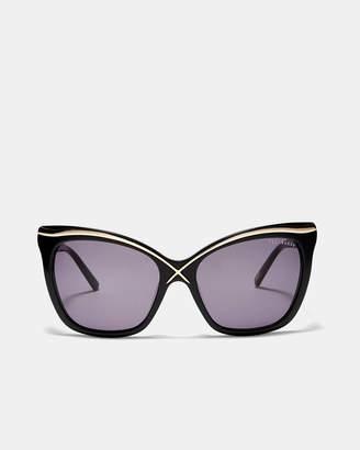 Ted Baker CARINAS Gold trim oversized sunglasses