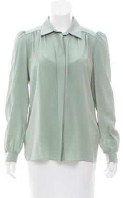Chloé Silk Button-Up Top