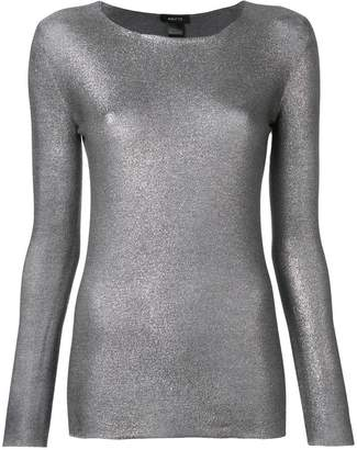 Avant Toi slim-fit metallic sweatshirt