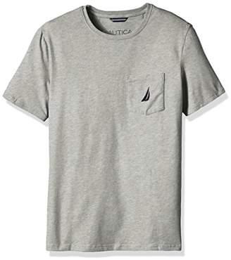 Nautica Men's Big and Tall Solid Pocket T-Shirt