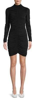 Diane von Furstenberg Ruched Long-Sleeve Sheath Dress