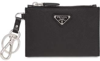 Prada Saffiano leather keychain trick