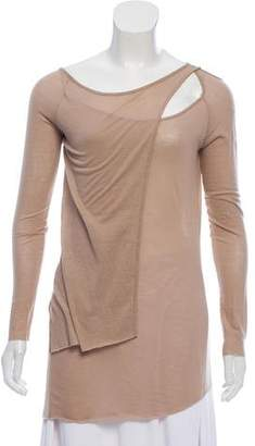 Kimberly Ovitz Long Sleeve Cut-Out Top