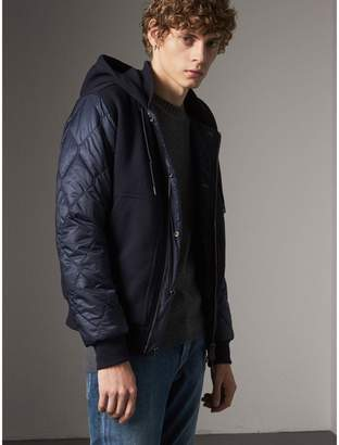 Burberry Reversible Quilted Cotton Hooded Bomber Jacket