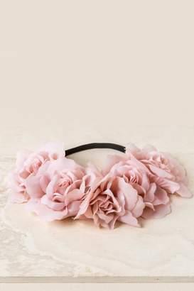 francesca's Cora Flower Crown Headband in Blush - Blush
