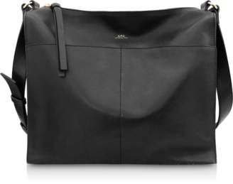 A.P.C. Suzanne Zip-Top Leather Shoulder Bag