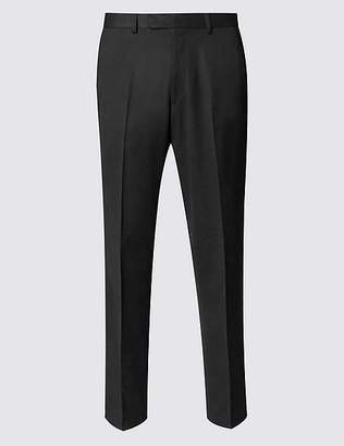 Marks and Spencer Black Regular Fit Trousers