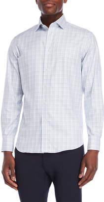 James Tattersall Blue Check Shirt